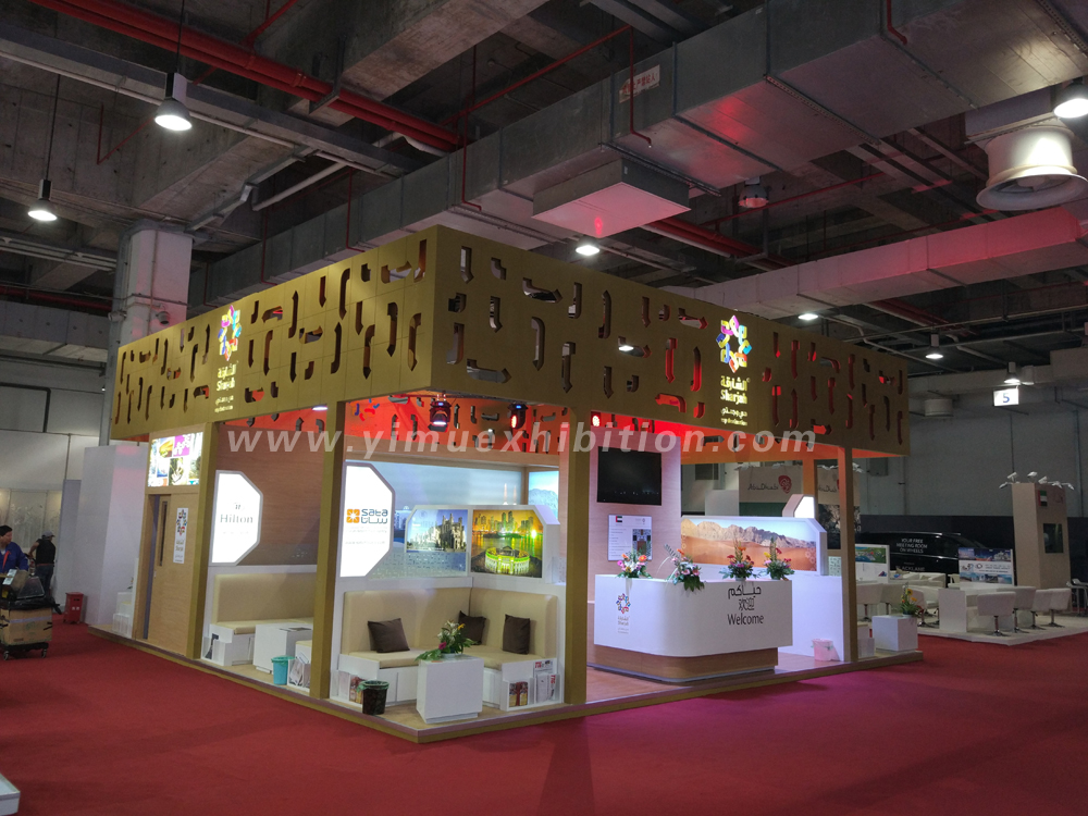Exhibition Stand Builders Sharjah : Country pavilion of sharjah in itb china